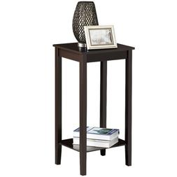 Tall End Table Nightstand Multi-purpose Small Space Table Be