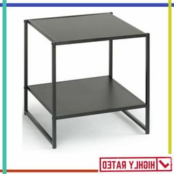 END TABLE Square Side Night Stand Coffee Tables with Lower S