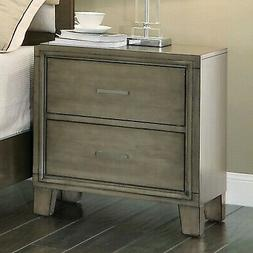Furniture of America Enrico I Night Stand Gray - CM7068GY-N