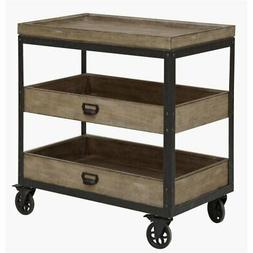 Samuel Lawrence Flatbush 2 Shelf Nightstand with Casters in