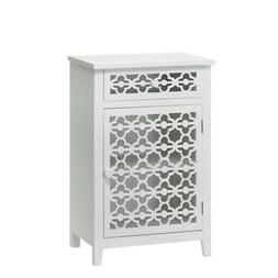 Floral Pine Bathroom Cabinet Bedroom Cabinet White Night Sta