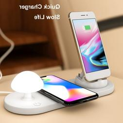 <font><b>3</b></font> In 1 Fast Wireless Charger Pad <font><