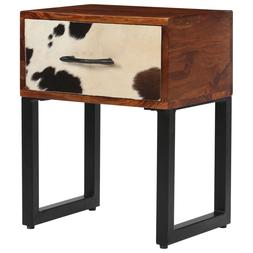 <font><b>Nightstand</b></font> Solid Sheesham Wood and Real