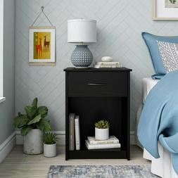 **FREE SHIPPING** Wooden Mainstays Classic Nightstand with D