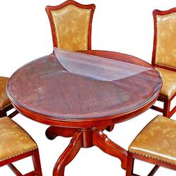 Round Matte Table Top Protector Large Soft Glass Wood Dining