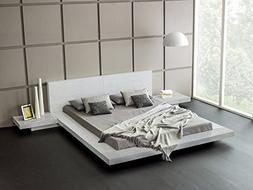Fujian Modern Bed With 2 Nightstands Queen Size