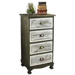 DL furniture - Fully Assembled 2 Tone Finish Night Stand End
