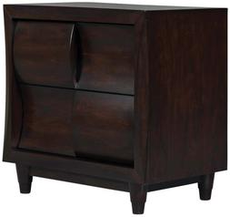 Fuqua Black Cherry Modern Night Stand