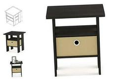 furinno end table bedroom night stand w