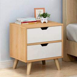 ANMAS HOME FURNITURE 2 Drawers Bedside Table Cabinet Bathroo