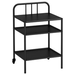 Ikea FYRESDAL Nightstand Side Table on Castors Steel, Black