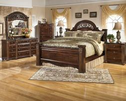 Ashley Furniture Gabriela Queen Poster 6 Piece Bedroom Set