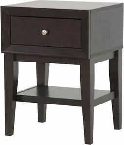 Baxton Studio Gaston Modern Accent Table and Nightstand, Bro