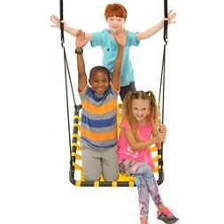 SWINGING MONKEY PRODUCTS Giant Mat Platform Swing, Yellow -