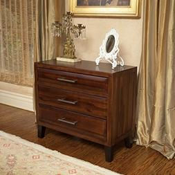 Glendora 3 Drawer Solid Wood Storage Chest / Nightstand