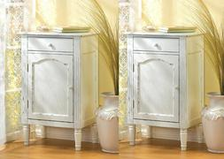 GRACEFUL ANTIQUED CABINET Nightstand Side Table Distressed W