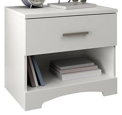 South Shore Gramercy 1-Drawer Nightstand, Pure White