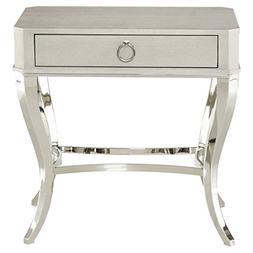 Kathy Kuo Home Gretta Grey Hollywood Regency Steel Inlaid As