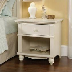 Sauder Harbor View Collection Nightstand, Antique White