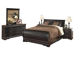 Ashley Huey Vineyard 5PC Queen Sleigh Bedroom Set With Two N
