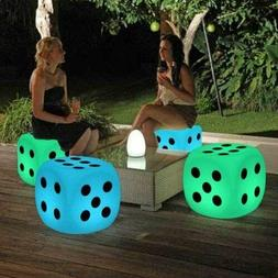 Illuminated Cocktail Tables Chair Color-Changing LED Lightin