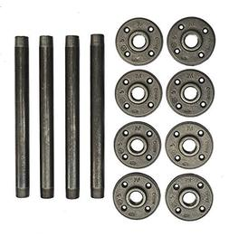 Industrial Pipe Table Legs ◈ 10 Inch - 4 Pack ◈ Perfect