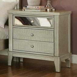 Furniture of America Jacques 3 Drawer Nightstand