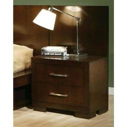 Coaster Jessica Nightstand with Panel in Cappuccino