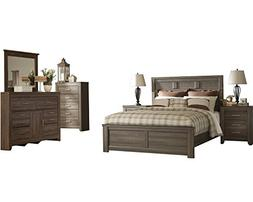 Ashley Juararo 6PC Cal King Panel Bedroom Set With Two Night