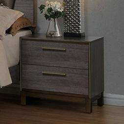 Furniture of America Julian 2 Drawer Nightstand
