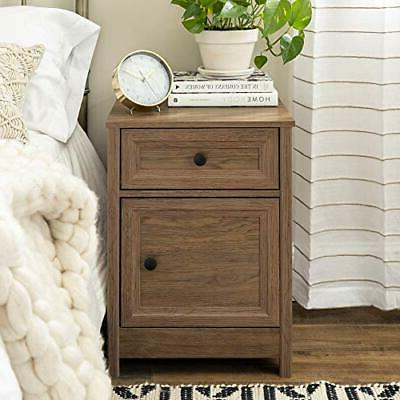 Walker Edison 1 Drawer Nightstand Dark Walnut