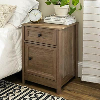 1 drawer grooved nightstand dark walnut