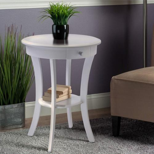 Winsome Wood 10727 Accent Table, White