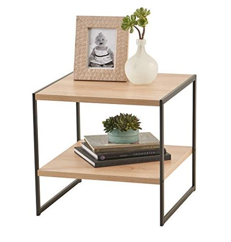 ClosetMaid 1310 Wood Side Table Storage Shelf, Natural