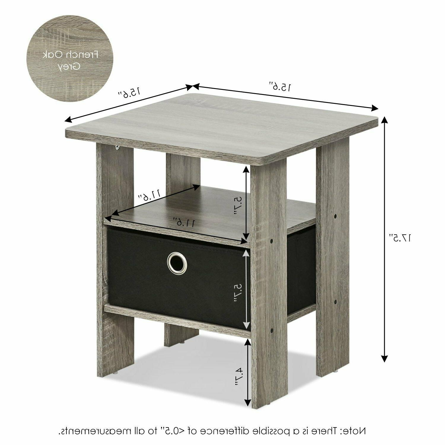 Furinno 2-11157GYW Petite Stand