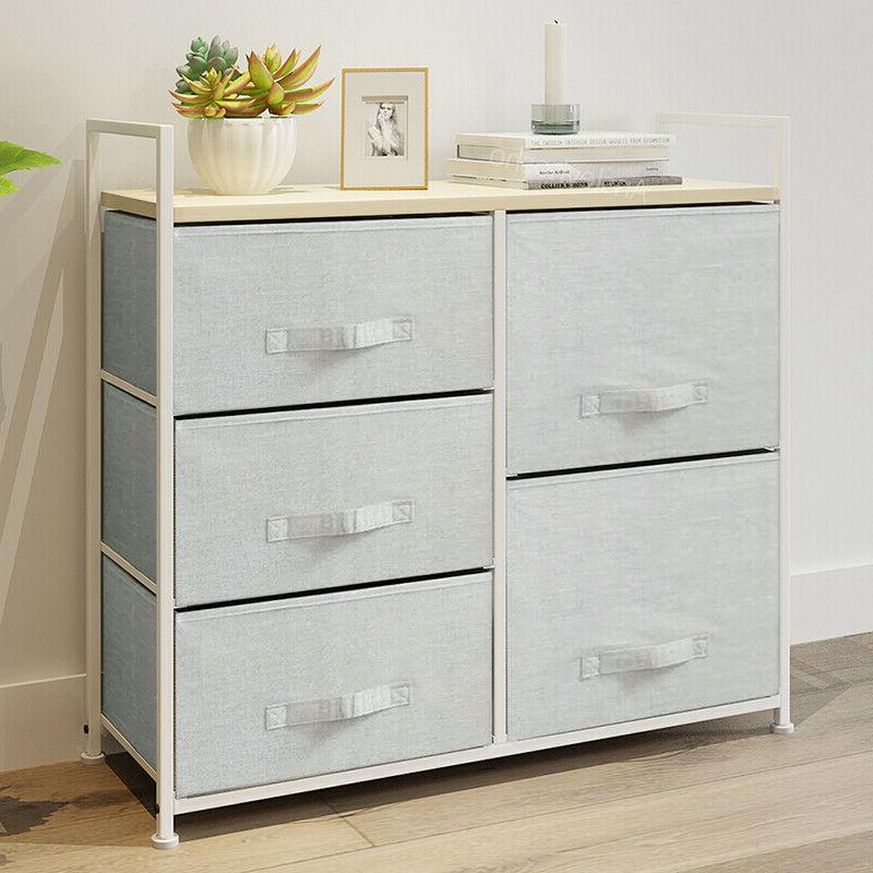2/4/5 Drawers Table Night Storage Unit Cabinet