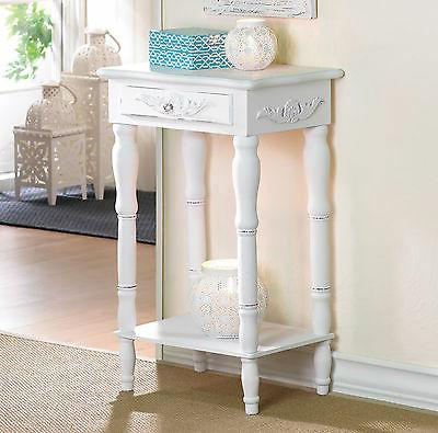 2 Shabby Distressed Night Stands End Tables w/Shelf NEW