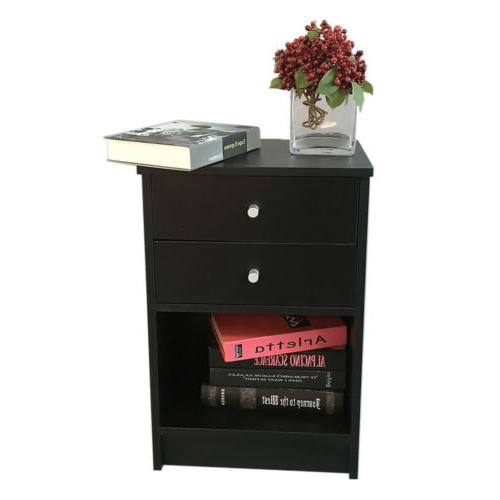 2-Drawer Nightstand End Stand