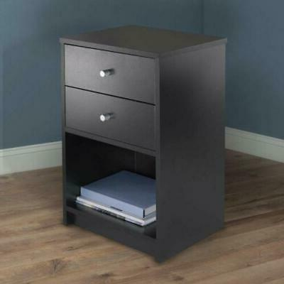 2 Bedside Night Stand Storage Cabinet Bedroom New