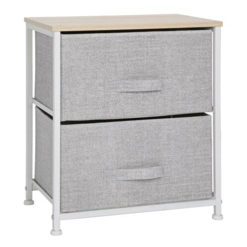 2 Bed Sofa Side Table Night Storage Drawer US