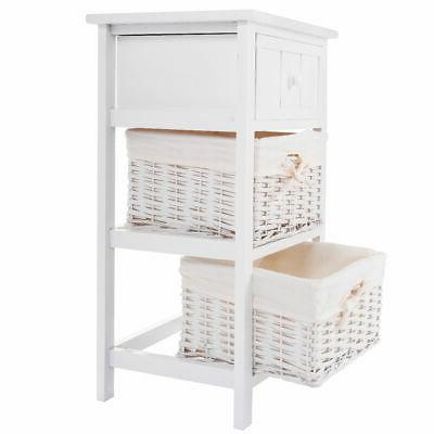 2 3 Drawer Bedside End Table Organizer Bedroom