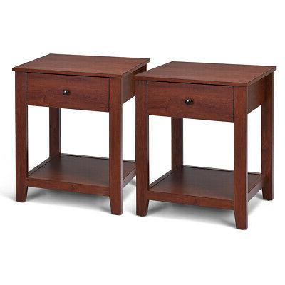 set of 2 night stand end side