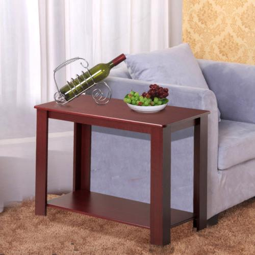 2pcs Chair Side Narrow End Spaces Table Table