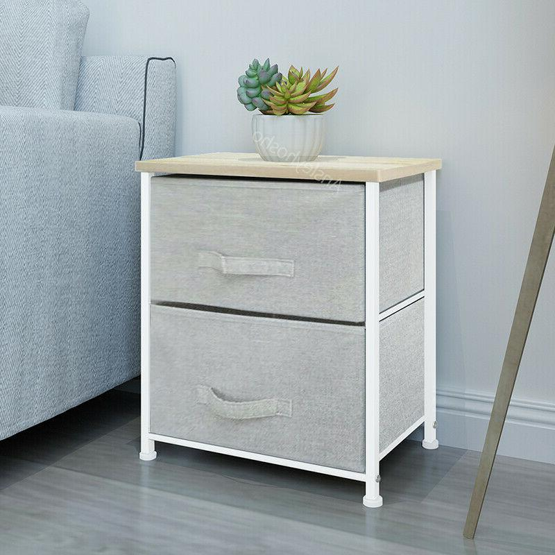 2/4/5 Drawers Night Storage Unit Cabinet Bedroom New