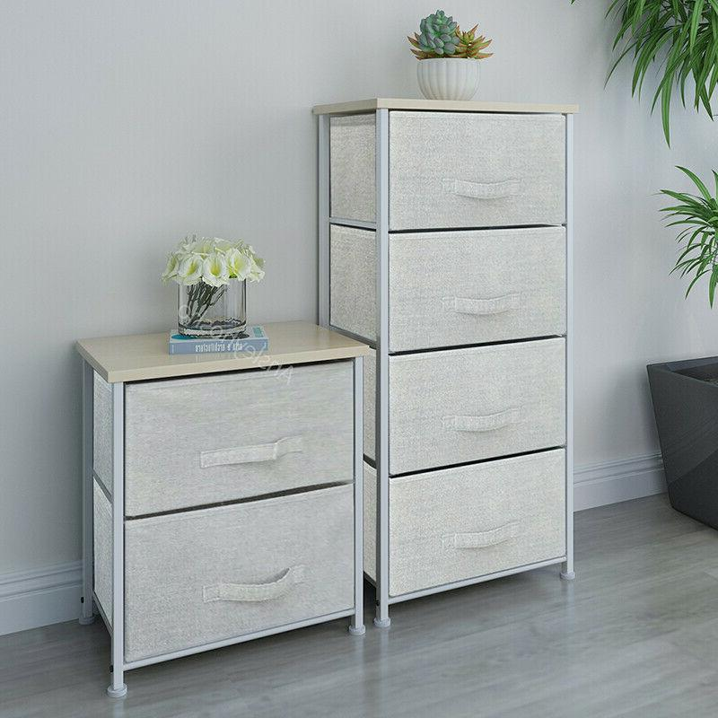 2/4/5 Bedside Table Night Stand Storage Cabinet Bedroom Drawers