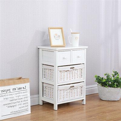 3/4 Layer End Bedside Table Nightstand with