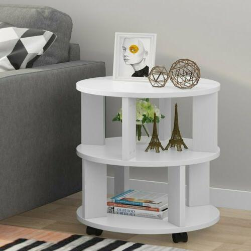 3-Tier Entry Table Living Room Sofa Side Table Small Round N