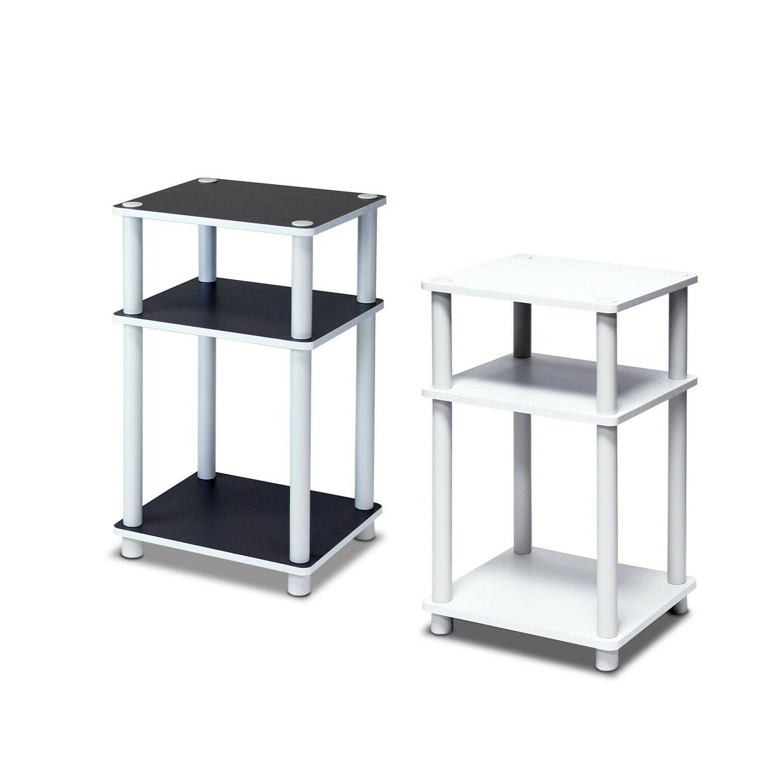3 Tier End Table Night Stand Side Bedroom Living Room With S
