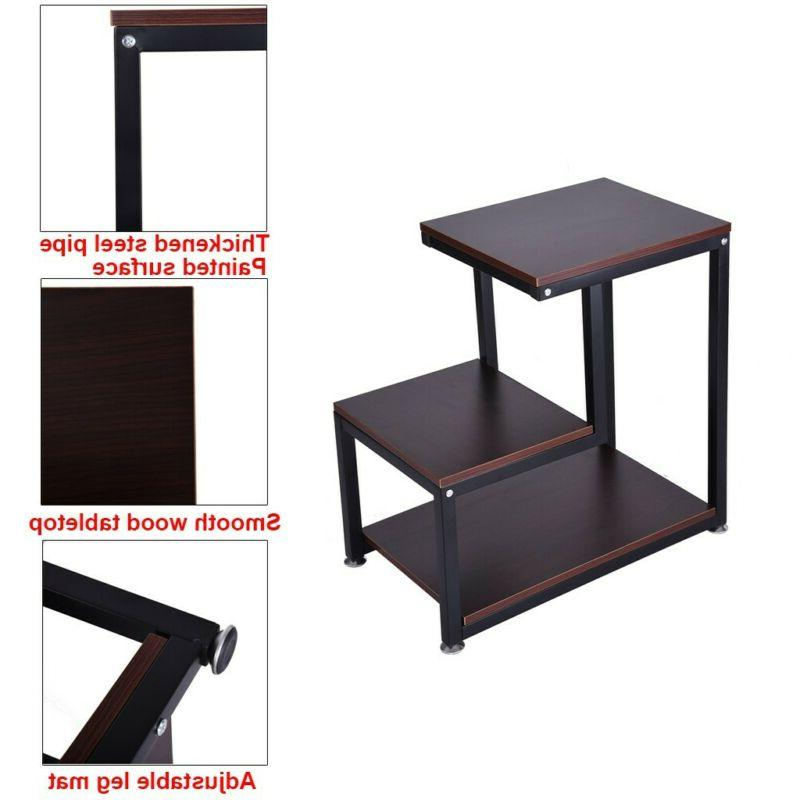 Country With Storage Shelf End Table