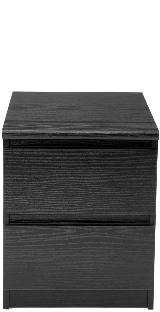 7029161 scottsdale 2 drawer nightstand black wood